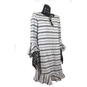 Max Studio Striped Seersucker Dress